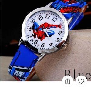 Spiderman Rubber Quartz Watch Blue NEW!